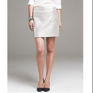 Banana Republic Metallic Holiday Mini Skirt